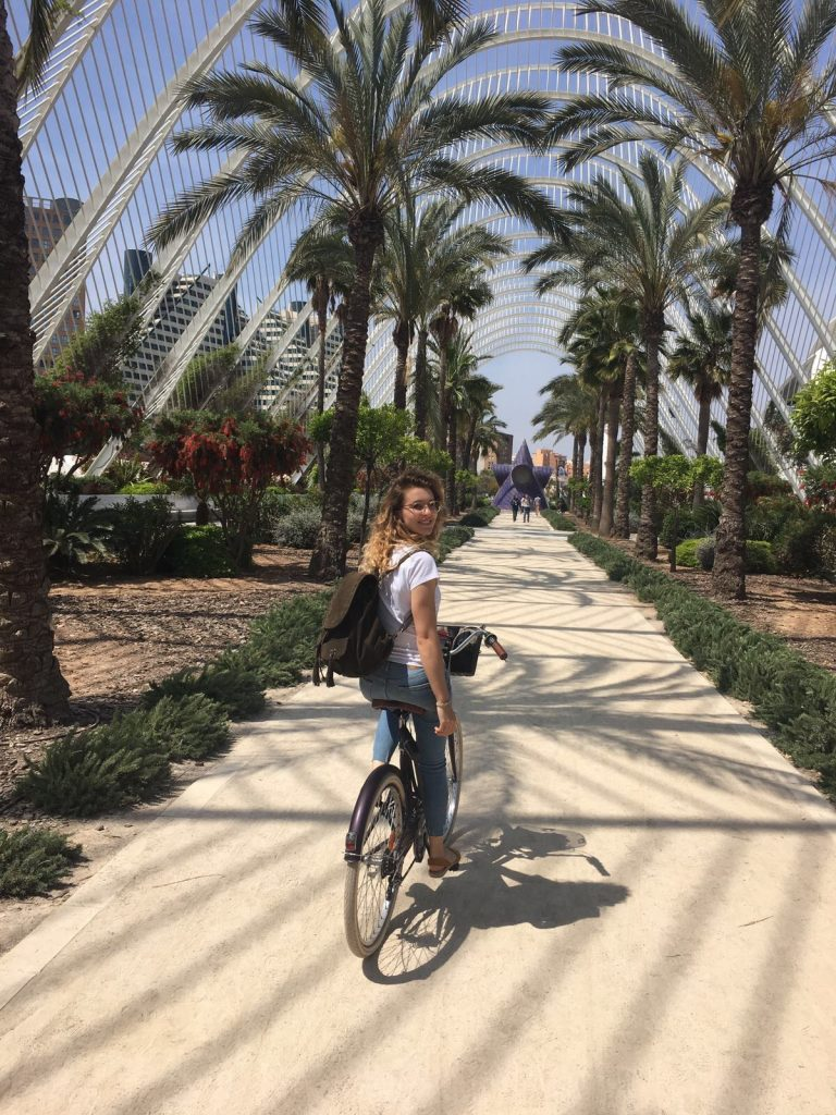 Cycle in Valencia - Turia Park