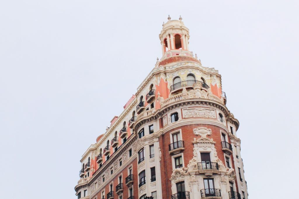 Beautiful buildings in Valencia: Banco de Valencia
